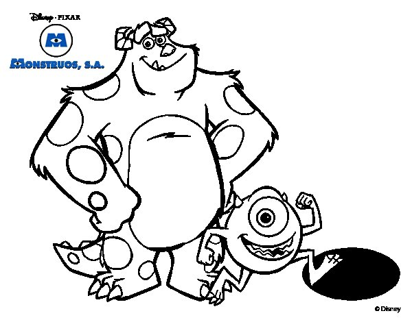 Boo And Sully Monster Inc Coloring Pages Coloring Pages