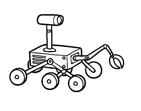 Moon robot coloring page