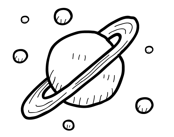moons of saturn coloring page coloringcrewcom