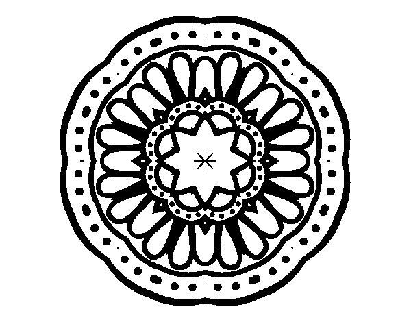 Mosaic mandala coloring page