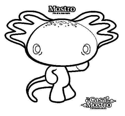 Mostro 2 coloring page