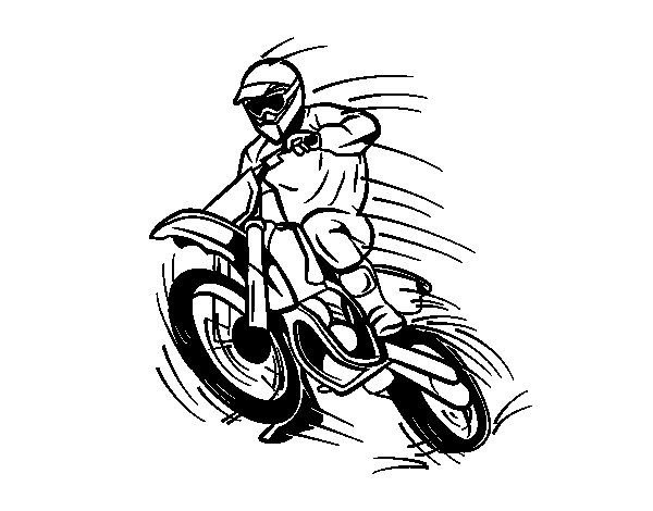 Motocross coloring page