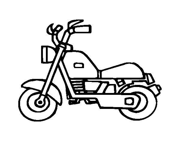 Motorbike Harley coloring page