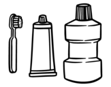 Mouth cleaning coloring page