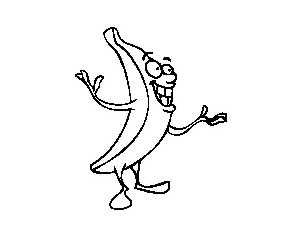 Mr. banana coloring page
