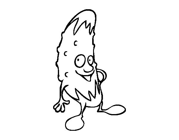 Mr. gherkin coloring page