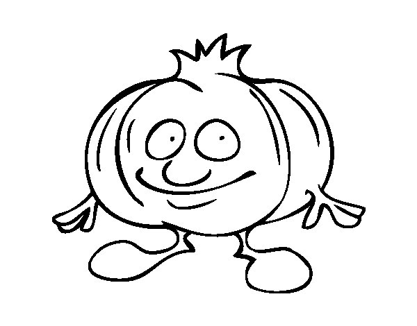 Mr. Head of garlic coloring page