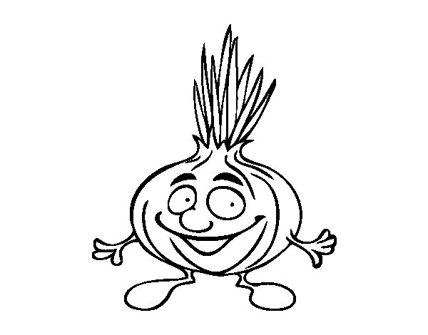 Mr. onion coloring page