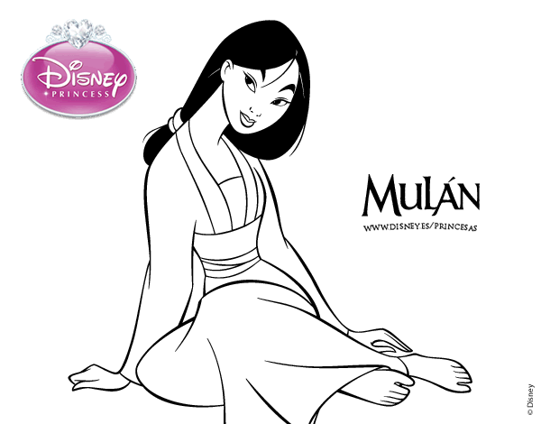 Baby Mulan Coloring Coloring Pages