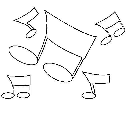Musical notes coloring page - Coloringcrew.com