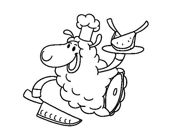 Mutton coloring page