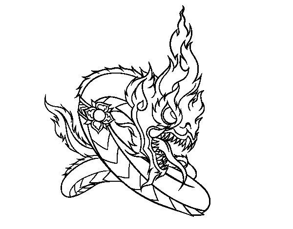Naga coloring page