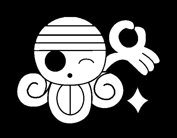 Nami flag coloring page