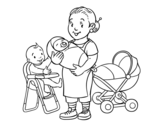 Nanny coloring page
