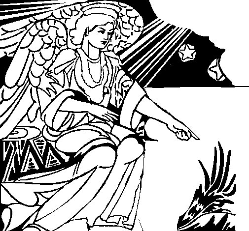 Nativity angel coloring page