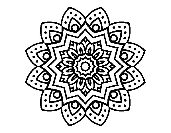 Natural Flower Mandala Coloring Page