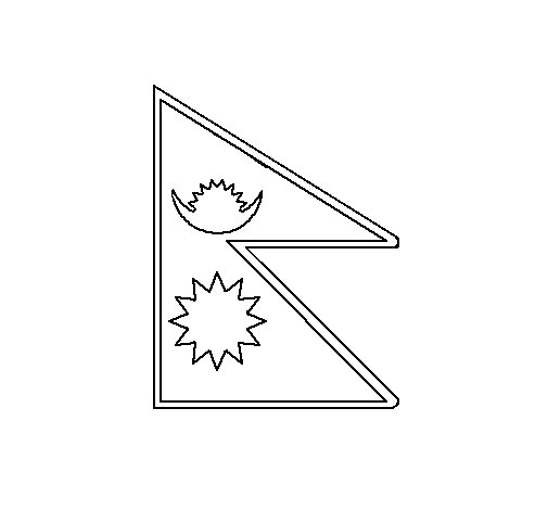 Nepal Coloring Page