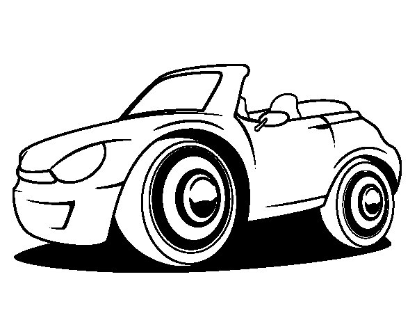 New car coloring page