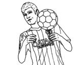 Neymar Barça coloring page