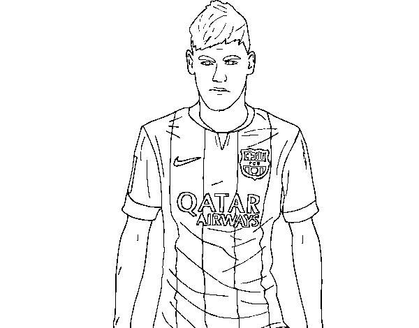 neymar jr coloring page coloringcrewcom