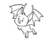 Nice bat coloring page