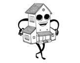 Nice house coloring page
