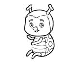 Nice ladybug coloring page