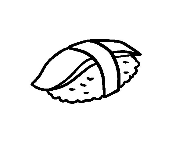 Nigiri cuttlefish coloring page for Cuttlefish coloring pages