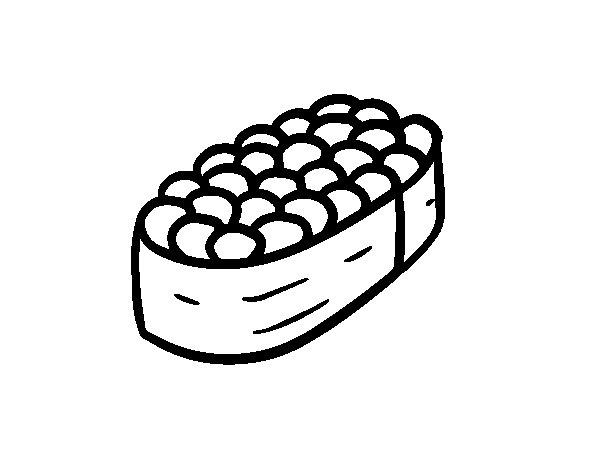 Nigiri salmon eggs coloring page