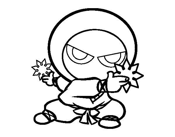 Ninja kid coloring page