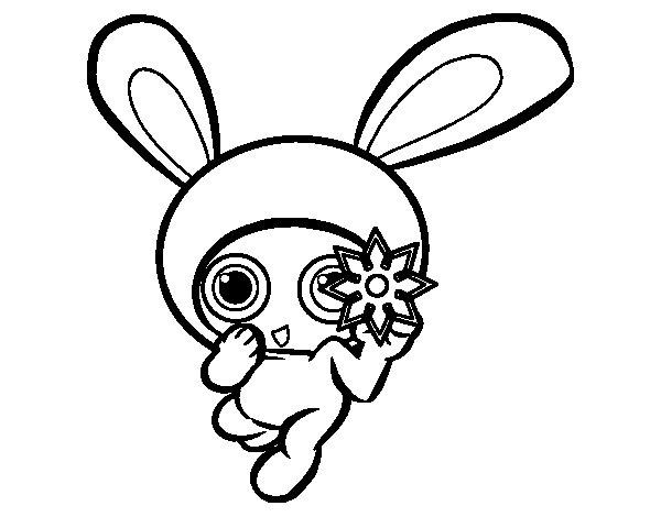 Ninja rabbit coloring page