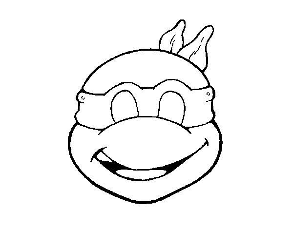 Ninja Turtles Mask coloring page