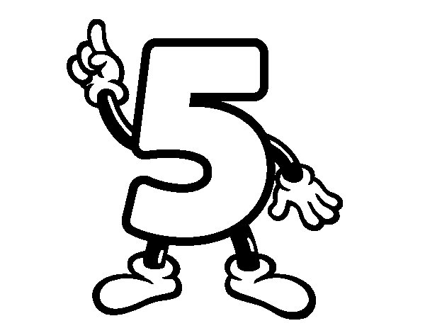 Number 5 coloring page Coloringcrewcom