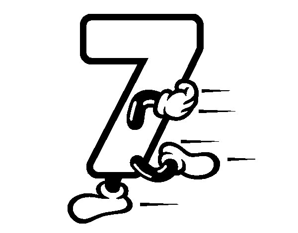 Number 7 coloring page Coloringcrewcom