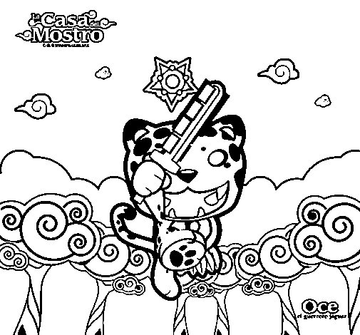 Oce coloring page