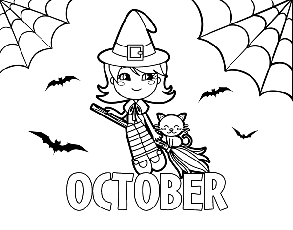 october coloring page coloringcrewcom