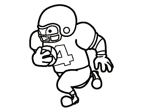 Offensive guard coloring page
