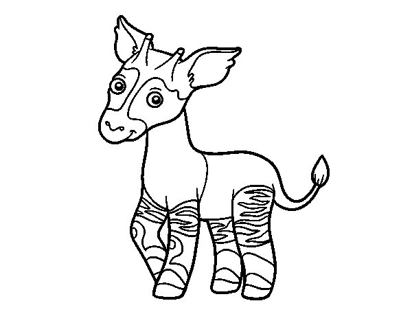 Okapi coloring page for Okapi coloring page