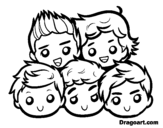One Direction 2 coloring page