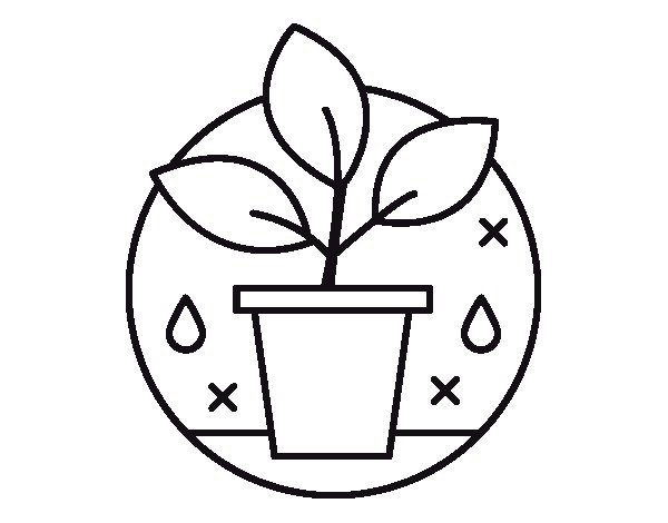 Organic farming coloring page