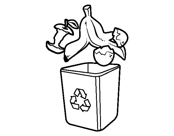 Organic recycling coloring page