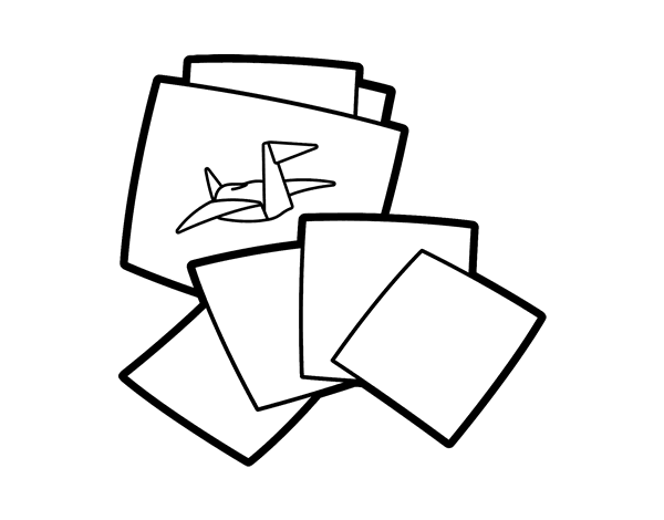 Origami Coloring Page