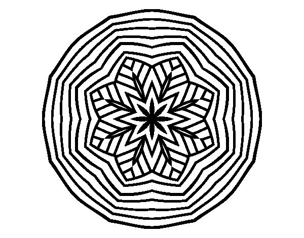 Overhead mandala coloring page