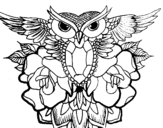 Owl symbol coloring page