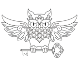 Dibujo de Owl with key tattoo