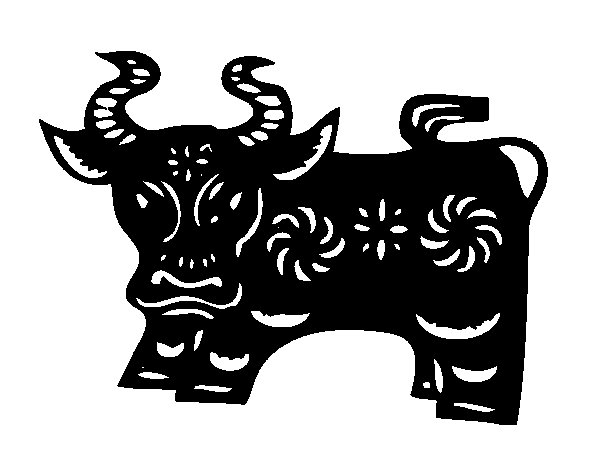 Ox Sign coloring page