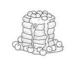 Pancakes coloring page