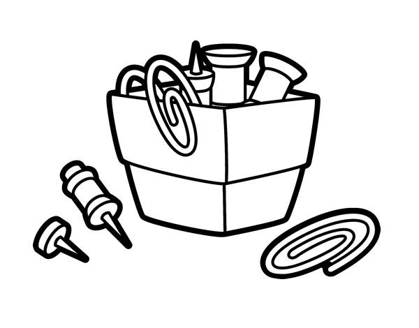Paper Clip Holder Coloring Page