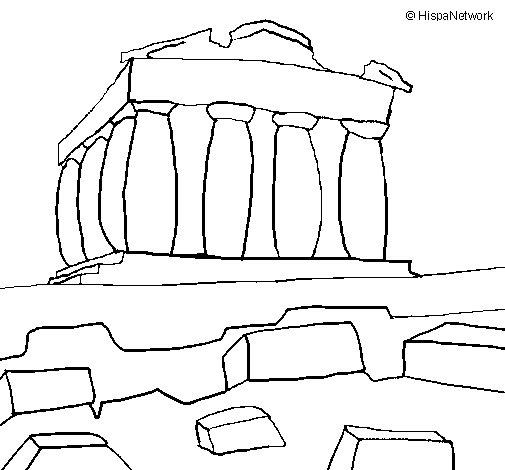 Parthenon coloring page