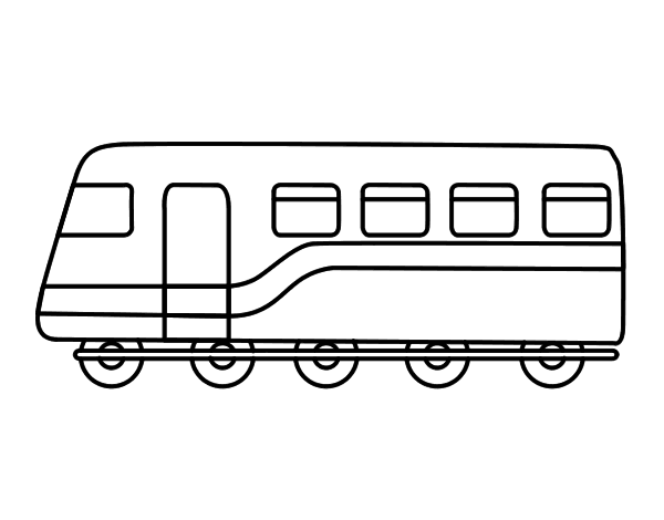 Passenger train coloring pages for Amtrak coloring pages